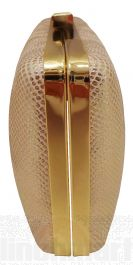 Madame Posh Pink/Gold Snake Skin Style Clutch Bags