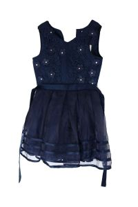 Jona Michelle Girl's Special Occasion Dress Navy Marin